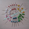 Bulk Decorative 55mm Assorted shape Colored Pearl Head Pin