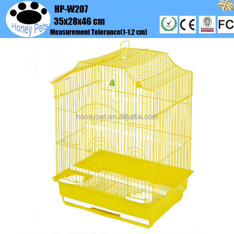 HP-W207 unique metal make wooden bird cage for sale