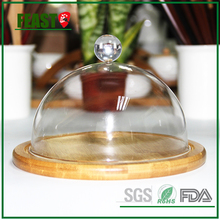 Feast new clear glass dome bell jar wholesale with Knob