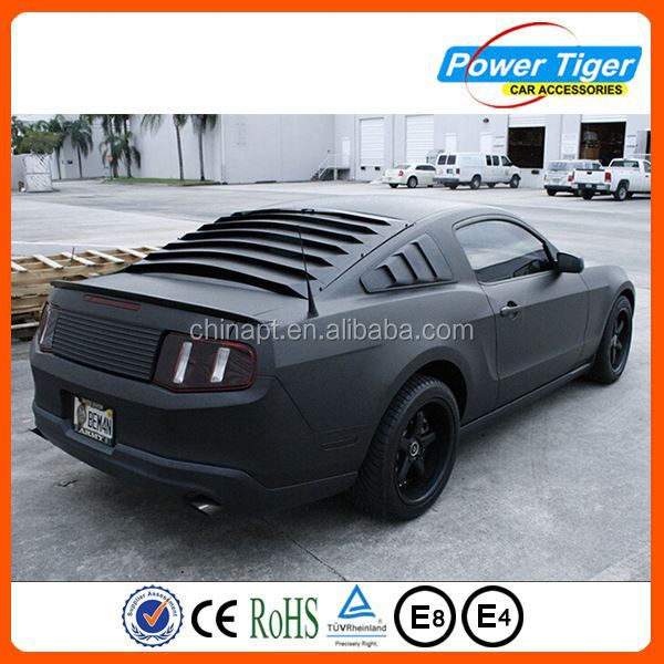 3D 1.52*30m Matte Black Car Vinyl Wrap