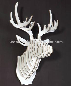 Madera cabeza de alce decoraci n para pared cabeza de ciervo buy product on - Cabeza de ciervo decoracion ...