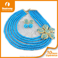 Bestway African Beads Jewelry Set Crystal Bead Jewelry Set BJ0010