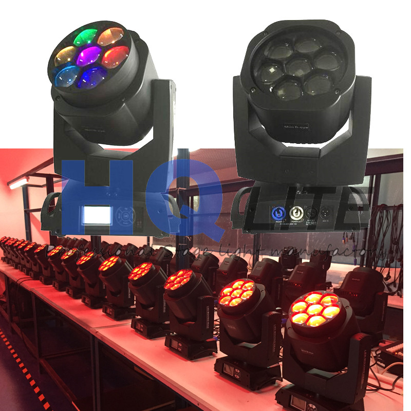 7 x15W Mini Bee eye zoom LED Moving Head Lights B Eye for dj club