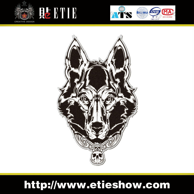 New Design Motorcycle Decal Wolf Totem Reflective Custom Car Window Stickers