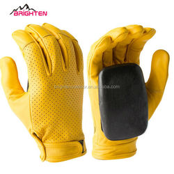 Breathable Perforated Leather longboard sliding gloves, skateboard glove