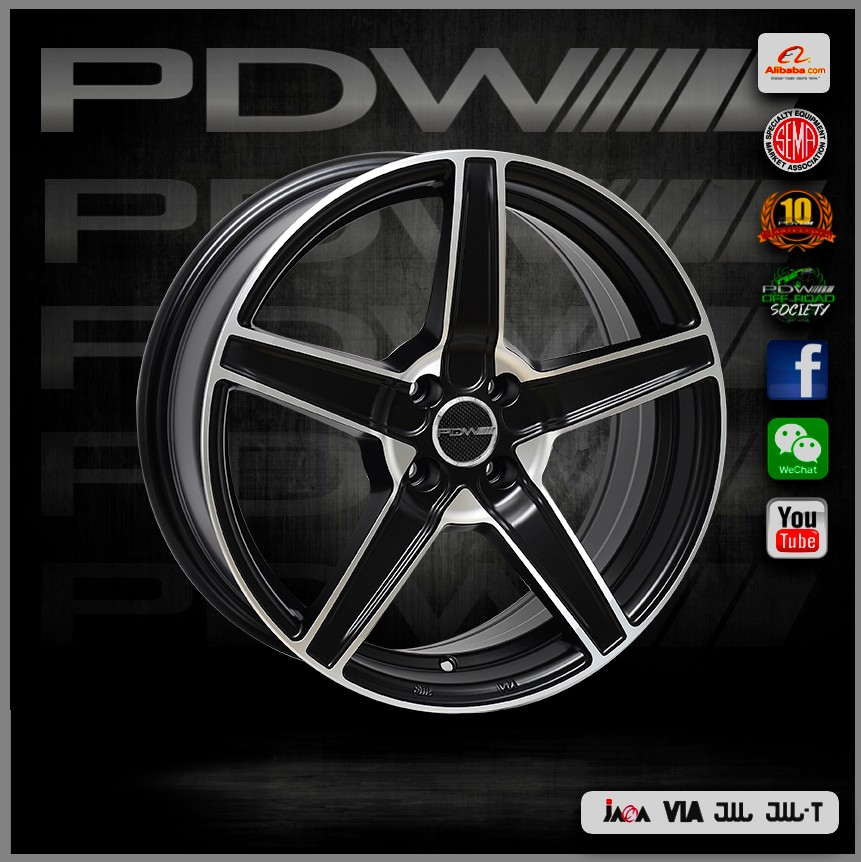 PDW brand replica rays wheels,China alloy wheels factory since 1983