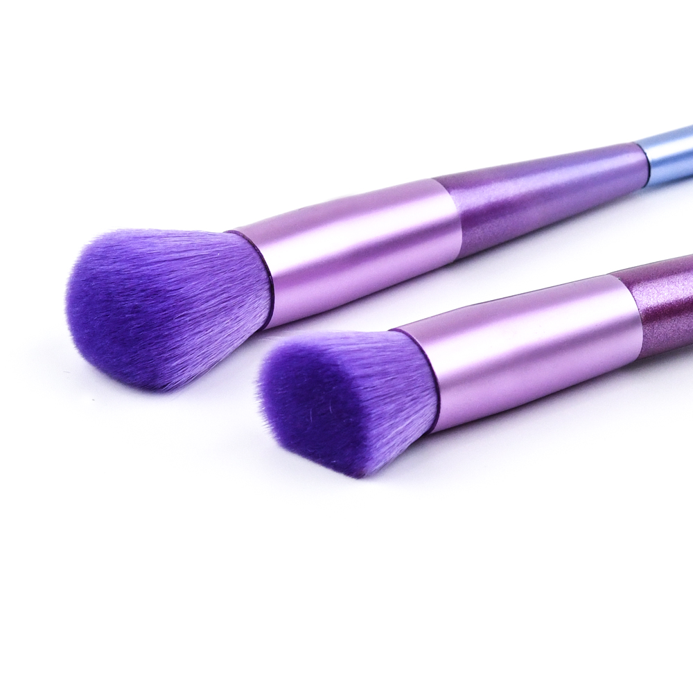 Professional Convenient Double-end 4 Piece Purple Makeup Brush Set