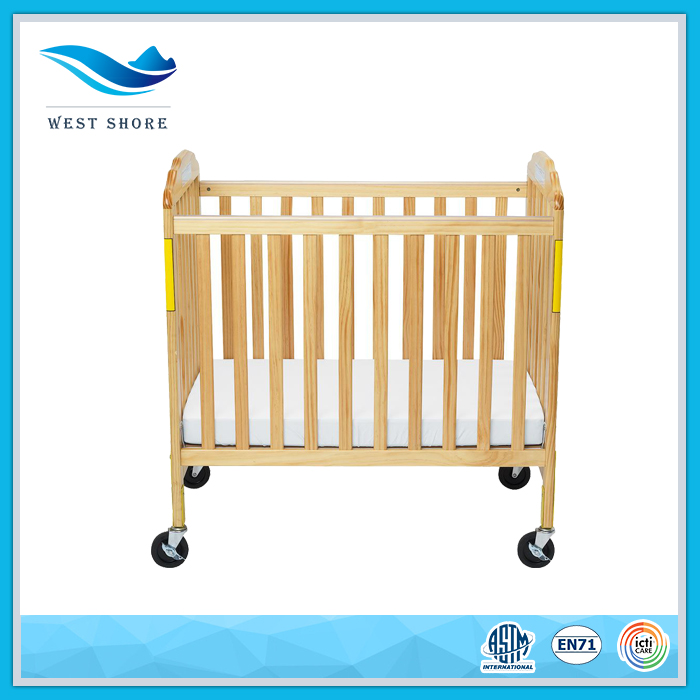 High end wood baby cribs with wheels for baby product