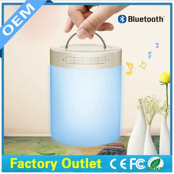 Smart Night lights led bulb Indoor bluetooth speaker wireless atmosphere nightlight lamp with 7 different color light