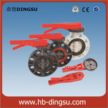 Type Flange Joint Handle Plastic 3way PVC Butterfly Valve