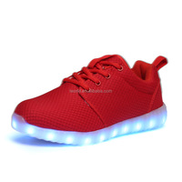 Full range size available led shoes with difference color shinning led kids shoes 7color light up shoes