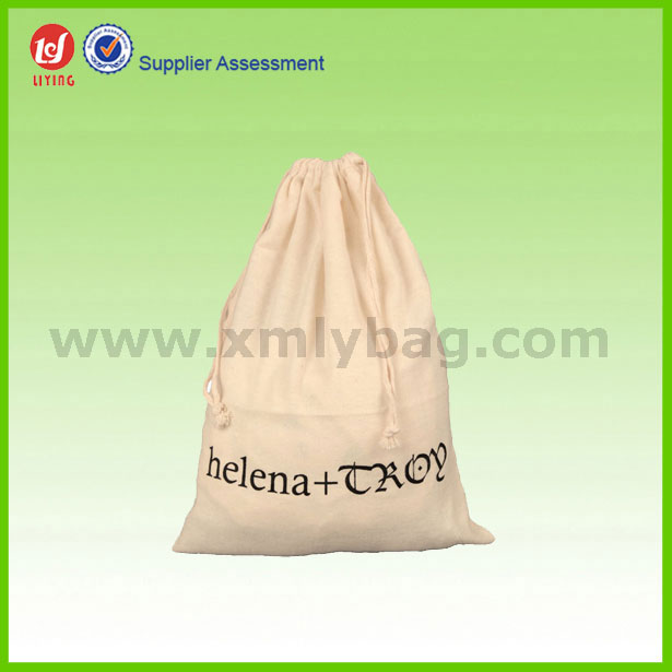 Promotional Cotton Linen Drawstring Dust Bag