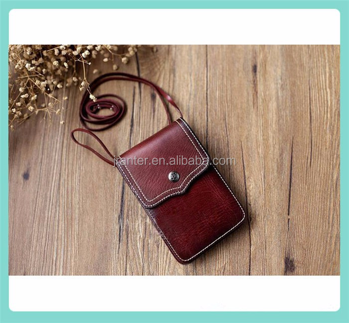 Full Color Case for iPhone 5c Custom Genuine Leather Cell Phone Neck Pouch