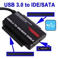 SATA/PATA/IDE to USB 3.0 Adapter Converter Cable for 2.5 / 3.5 Inch Hard Drive
