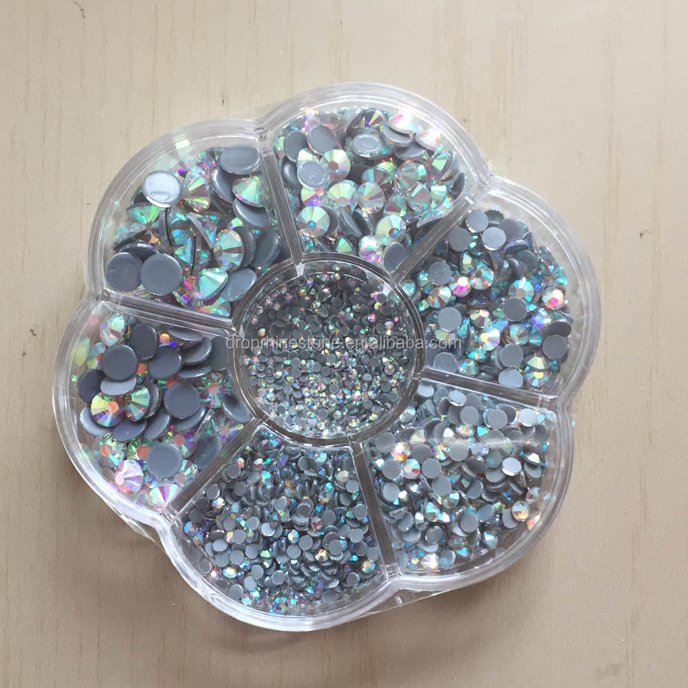 Mixed SS6-SS40 HotFix Rhinestones samples <strong>Crystals</strong> hot fix stone Garment Heat Rhinestone Stones