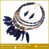 Wholesale Necklace Bohemia Design Farbic Feather Statement Necklace Jewelry Set