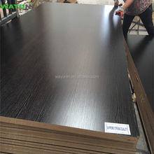 18mm Matt/Wood Textured Black Melamine Laminated MDF Board With Wholesale Prices