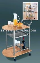 MDF&chrome finish carts for kitchen use