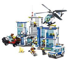 WANGE police station intelligence building brick toy with good quality