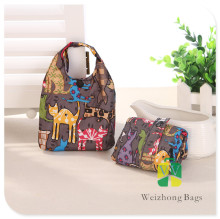 China manufacturer customized printing polyester folding bag promotional waterproof
