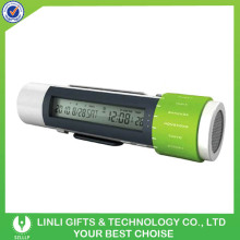 3 led travelling world time clock radio flashlight