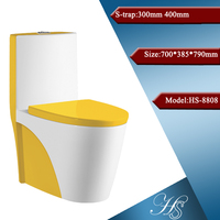 China sanitary ware colored toilet,one piece toilet,american standard toilet