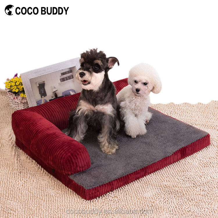 2017 New Design Half Sofa Dog Bed Elevated Memory Foam Luxury Pet Accessories Filling Bed