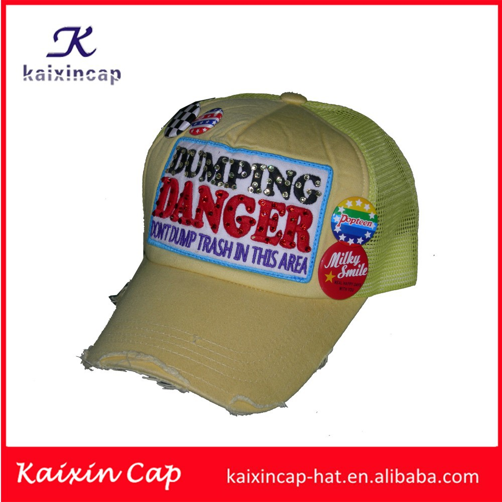 cowboy pattern hot sell design your logo top quality cheap baseball caps yellow