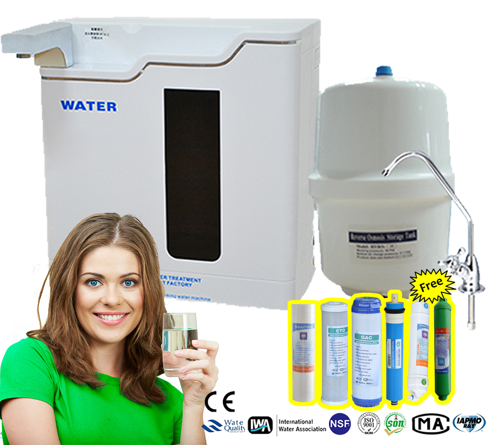 Direct drinking water / RO plant / multifunctional LED Light display water purifier domestic luxury reverse osmosis system