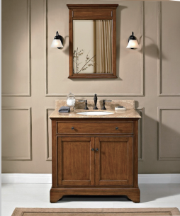 DOMO stain finishing top quality china bathroom cabinet bath vanity