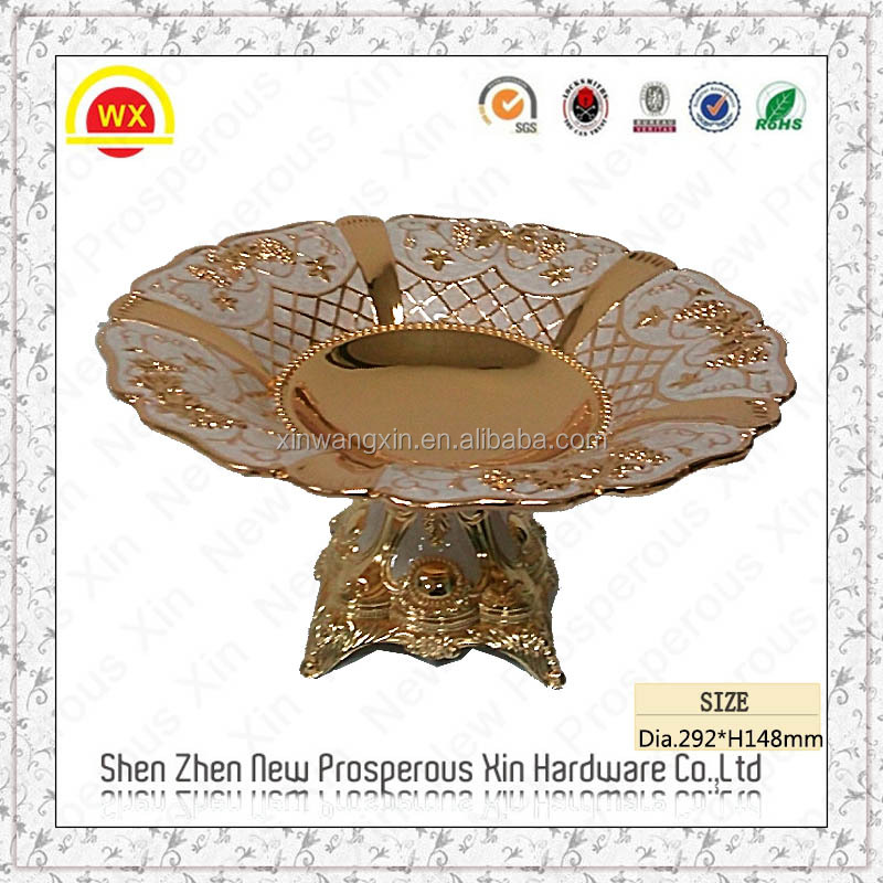 elegant dry fruit tray & metal fruit plate with tall foot
