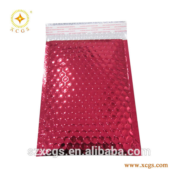 glossy aluminum foil bubble bag metallic bubble envelope mailers