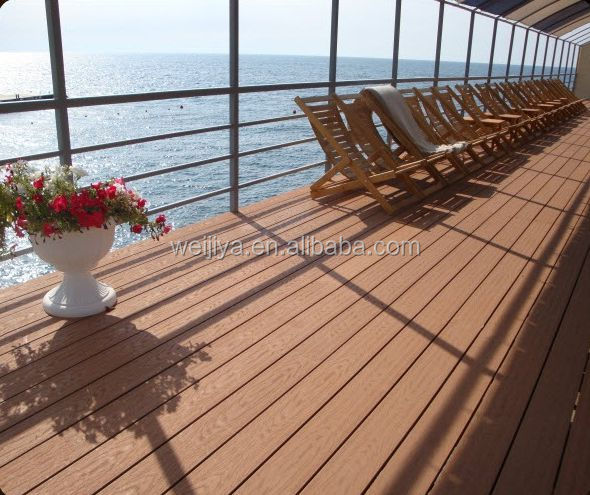 Factory Price High Quality WPC composite decking floor, Outdoor Decking