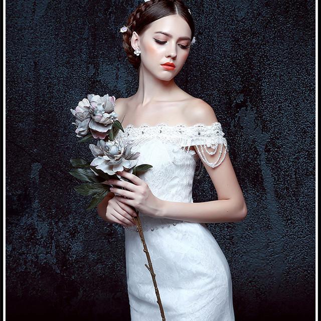 YW16 Wedding dress fabric luxury cinderella wedding dress