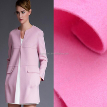 custom made wool fabric lady fashion fabric for winter coat