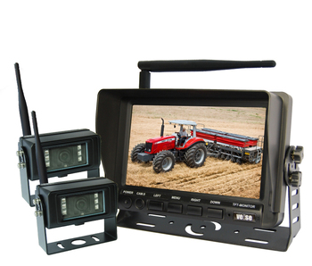 2.4GHz Digital Wireless 720P Wireless Camera Monitor System for Heavy Duty Vehicles, Bus and Truck