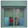 Security sliding PVC windows with electric rolling shutter