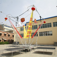 4 Folding Gym Bungee Trampoline OEM Design Available