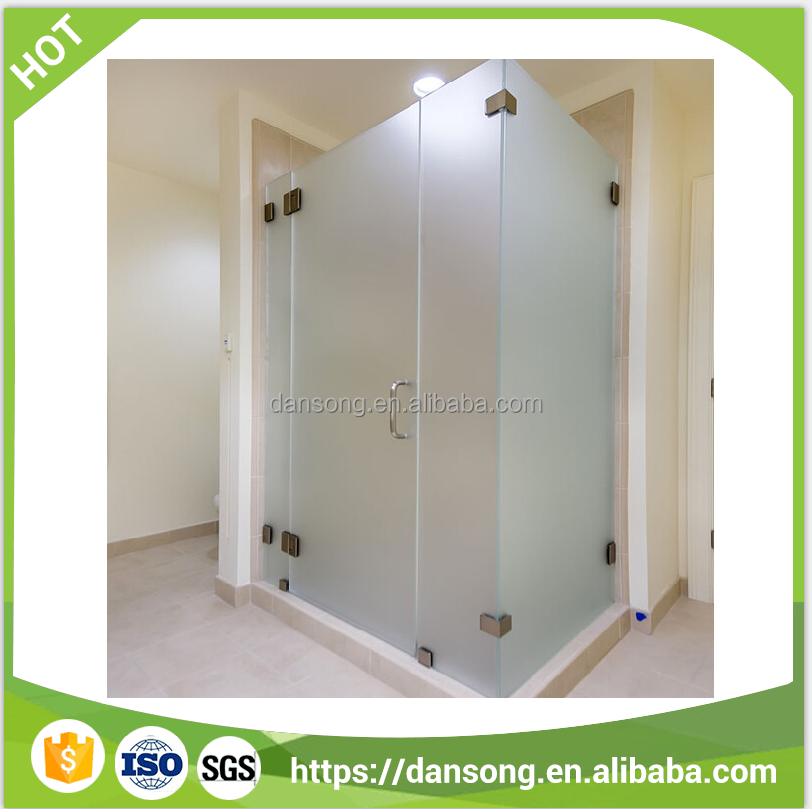 2-25mm Acid Etched Glass Tempered Glass for bathroom