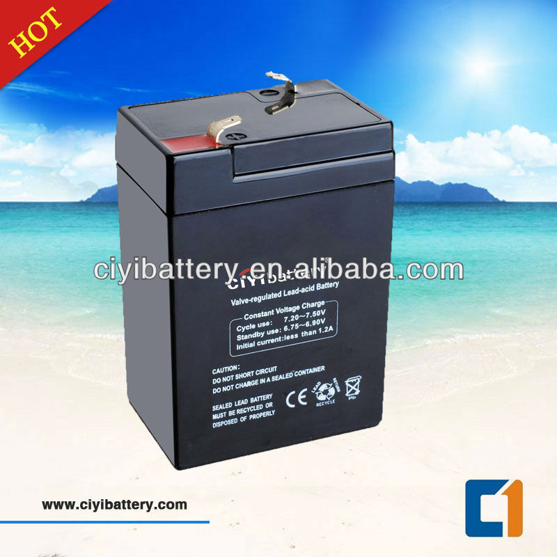 VRLA MF lead acid battery 6v 4.5ah