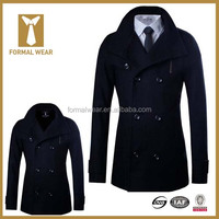 Fashion Designer Super Fine Wool Custom Made Winter Coat Men
