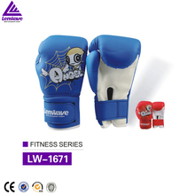 Top quality factory price Lenwave children's colorful sporting gloves kids PU leather kids boxing gloves