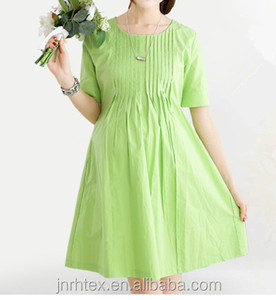 Fashion perfect 100 cotton custom plain pregnant women dress in china