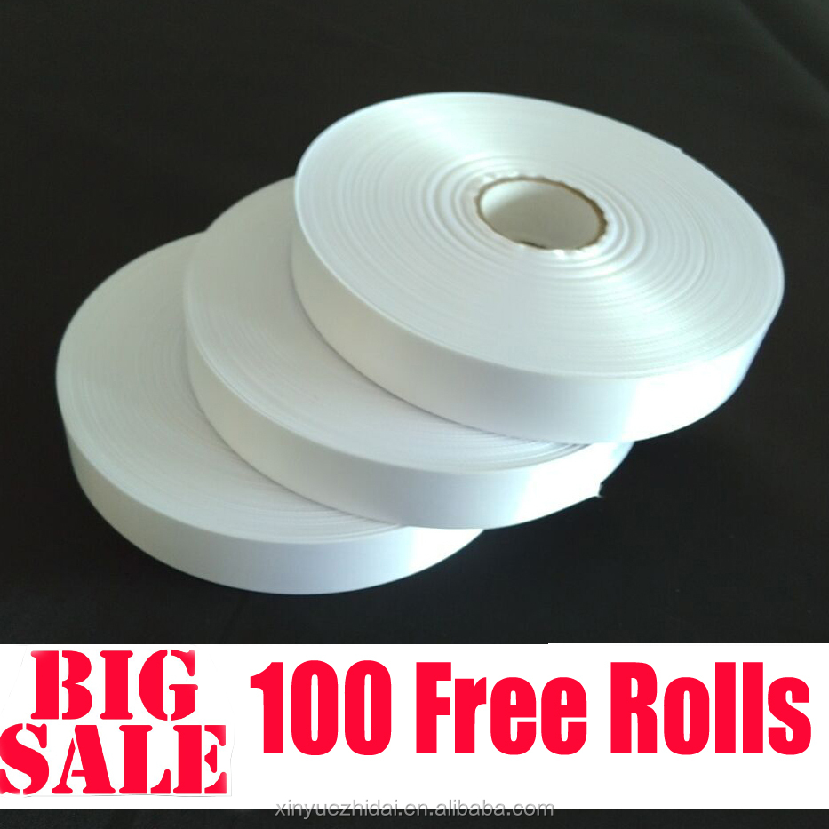 huzhou factory price, polyester satin/nylon ribbon,blank roll for care label