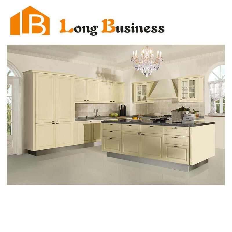 LB-JL1044 Top Modern Design High Quality Cheap Price of Solid Wood Kitchen Cabinet