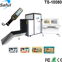 HOT!!! x ray Metal Detector with 200kg Conveyor Belt Load Railway Station TS-10080
