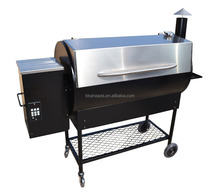 Stainless steel wood pellet smoker grill with PID digital controller