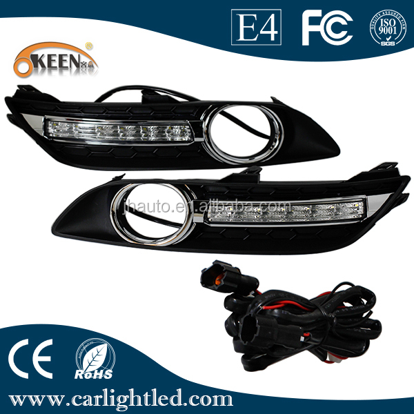 Good Quality 12V Dual Color Led Car DRL/Daytime Running Light Waterproof with CE ROHS for Bluebird Sylphy