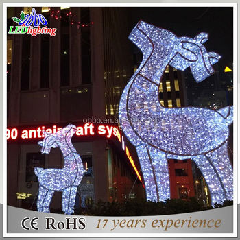 White LED 3D deer motif light/animal motifs