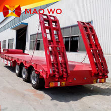 Factory direct 3 axle 30 ton low flatbed semi trailer for sale